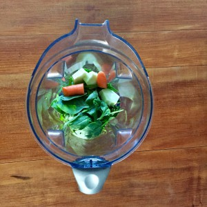 Throw veges into a blender or food processor for quick preparation
